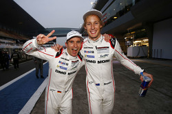 World Champion 2015 Timo Bernhard with Brendon Hartley, Porsche Team