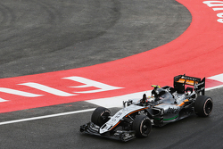 Серхио Перес, Sahara Force India F1 VJM08 в конце гонки