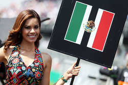 Une charmante Grid Girl pour Sergio Perez, Sahara Force India F1