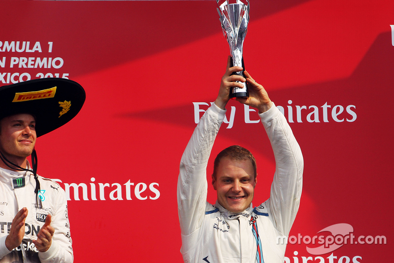 Podium: Third place Valtteri Bottas, Williams