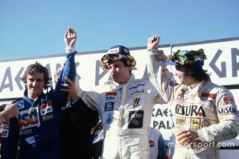 Podium du GP de Las Vegas 1981