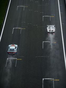 #96 Aston Martin Racing Aston Martin Vantage GTE: Francesco Castellacci, Stuart Hall, Liam Griffin; #18 Porsche Team Porsche 919 Hybrid: Romain Dumas, Neel Jani, Marc Lieb
