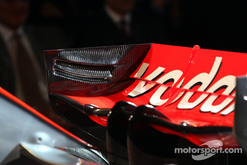 Detail of the new McLaren Mercedes MP4-23