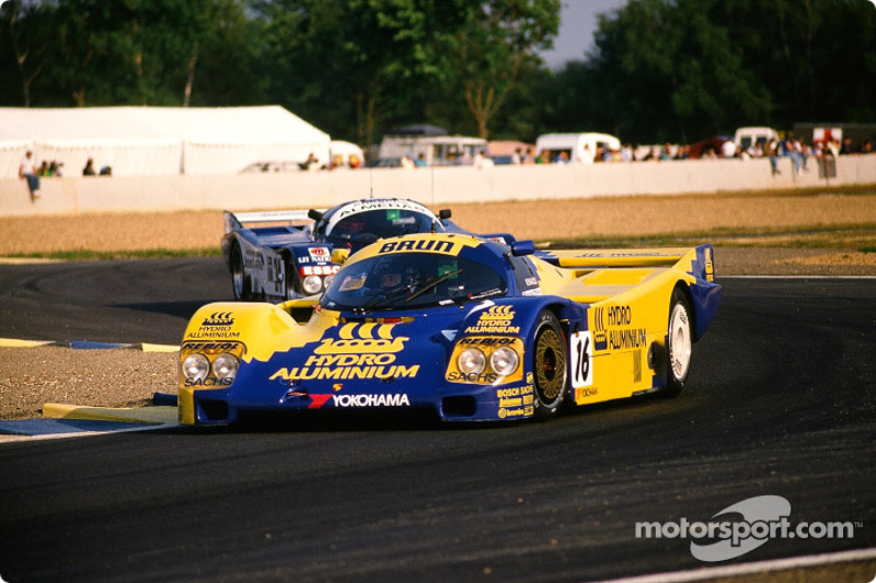 #16 Brun Motorsport Porsche 962 C: Harald Huysman, Dominique Lacaud, Uwe Schäffer