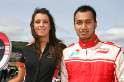 Grid Girl with Satrio Hermanto, driver of A1 Team Indonesia