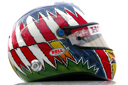 Helmet of Alexander Wurz, Test Driver, Honda Racing F1 Team