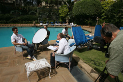 Media interviews at the hotel