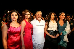 Vijay Mallya, Force India F1, with Shilpa Shetty, Indian film actress and model, and guests at the launch ceremony