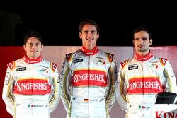 Giancarlo Fisichella, Adrian Sutil and Vitantonio Liuzzi