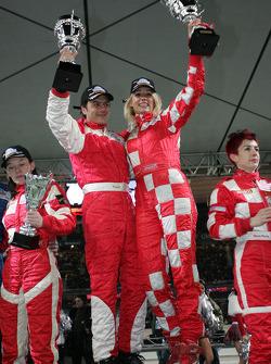 Winners Franck Lagorce and Elodie Gossuin