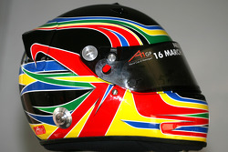Adrian Zaugg, driver of A1 Team South Africa, helmet