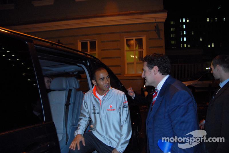 Lewis Hamilton Basın Toplantısı, Moskova, Rusya