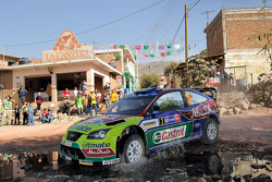 Mikko Hirvonen y Jarmo Lehtinen, BP Ford Abu Dhabi World Rally Team, Ford Focus RS WRC