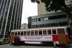 Advertising on a tram in Curitiba