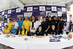 A group shot of the drivers who took part in the Autograph signing in the streets of Curitiba