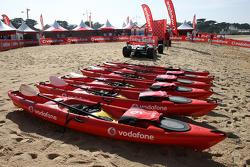 Vodafone Mclaren Mercedes beach kayak race