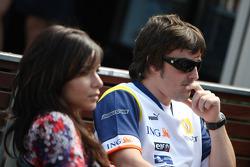 Fernando Alonso, Renault F1 Team, Raquel Rosario Wife of Fernando Alonso