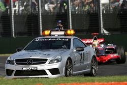 Lewis Hamilton, McLaren Mercedes, MP4-23 behind the safety car