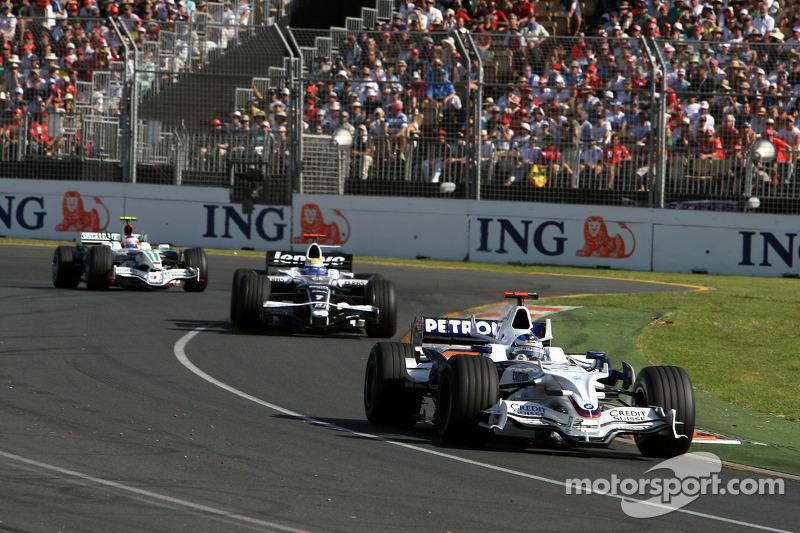 Nick Heidfeld, BMW Sauber F1 Team, Nico Rosberg, WilliamsF1 Team