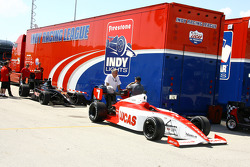 Indy Light cars in the paddock