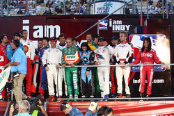 IndyCar drivers gather on stage