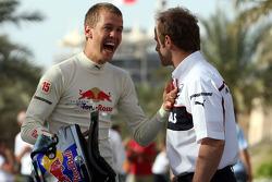 Sebastian Vettel and Josef Leberer