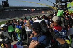 Carl Edwards crew celebrate his win