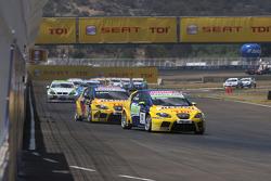 Gabriele Tarquini, Seat Sport, Seat Leon TDI and Yvan Muller, Seat Sport, Seat Leon TDI