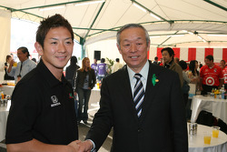 Honda Welcome Party: Hideki Mutoh and the Mayor of Motegi