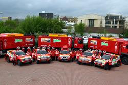 Team Repsol Mitsubishi Ralliart photoshoot