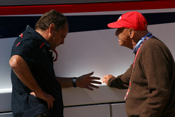 Gerhard Berger, Scuderia Toro Rosso, 50% Team Co Owner and Niki Lauda, Former F1 world champion and RTL TV