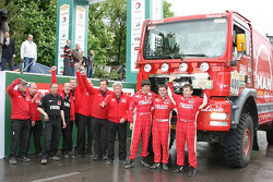 Podium: truck winners Hans Stacey, Eddy Chevaillier and Bernard Der Kinderen