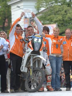 Podium: bike winner David Casteu