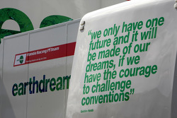 Writing on the Honda Racing F1 Team motorhome