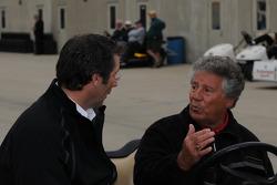 Mario Andretti talks to Tony George