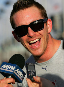 Scott Speed is all smiles after qualifying second