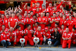 Scuderia Ferrari celebration shot: race winner Felipe Massa with Kimi Raikkonen and Scuderia Ferrari team members
