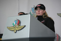 Sarah Fisher takes part in the