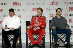 Carl Edwards introduces the winners of the Harlequin and Office Depot