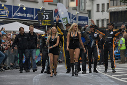 Sartorius Team Black Falcon girls lead the team at the parade