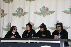 Danica Patrick, Hideki Mutoh, Raphael Matos and Michael Andretti