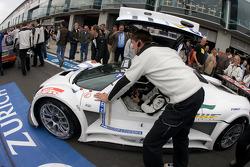 Heinz-Harald Frentzen pushed to starting grid
