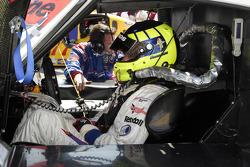David Donohue seated in the #58 Brumos Racing Porsche Riley