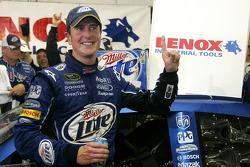 Victory lane: race winner Kurt Busch celebrates