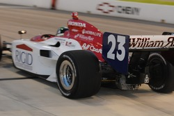 Townsend Bell leaving the pits