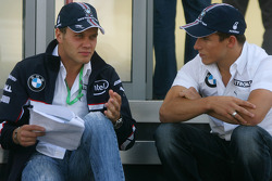 Marco Asmer, Test Driver, BMW Sauber F1 Team and Christian Klien, Test Driver, BMW Sauber F1 Team