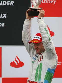 Podium: third place Rubens Barrichello