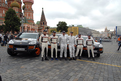 #16 Team Germany 2 Porsche Cayenne S Transsyberia: Carles Celma and Wolf-Hendrik Unger, #29 Team Hock Racing 2 Porsche Cayenne S Transsyberia: Lars Kern and Daniel van Kan, #10 Team Germany 1 Porsche Cayenne S Transsyberia: Armin Schwarz and Andreas Schul
