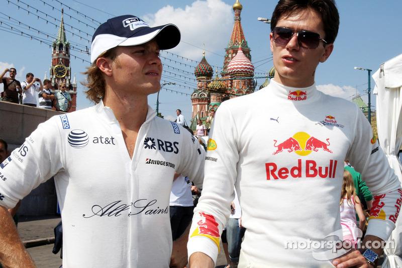2008 год. Нико Росберг и Михаил Алёшин