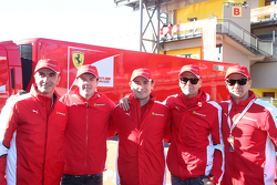 Da sinistra a destra i piloti AF Corse: Andrea Bertolini, James Calado, Davide Rigon, Gianmaria Bruni, Toni Vilander